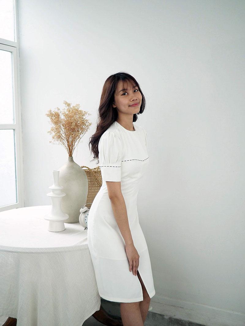 Đầm tay nút thiết kế cho nữ