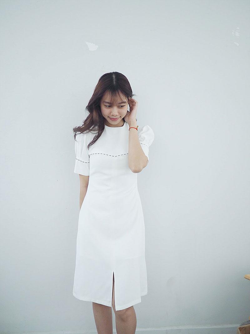 Đầm tay nút thiết kế by Vuông shop