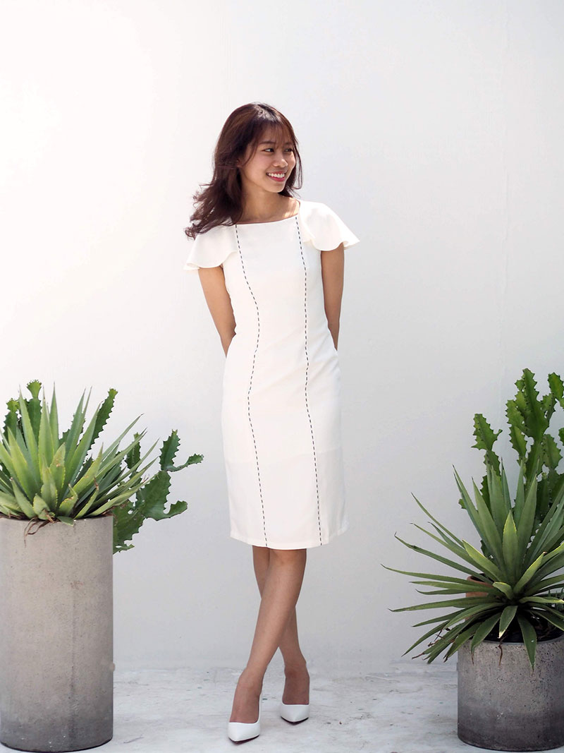 Đầm tay rũ thiết kế cho nữ