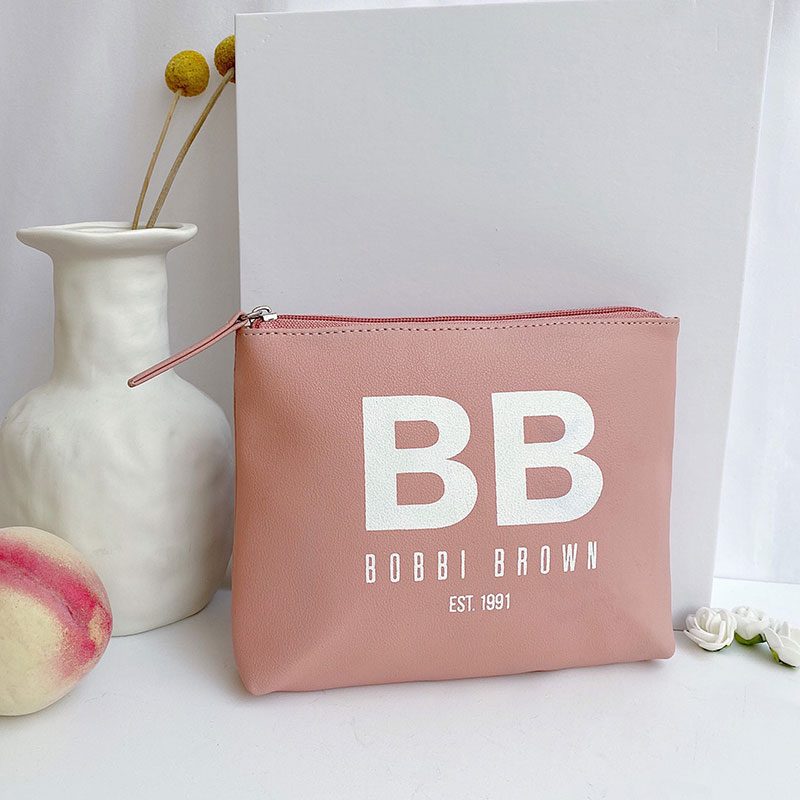 Túi cosmetic in logo kéo lụa màu theo yêu cầu