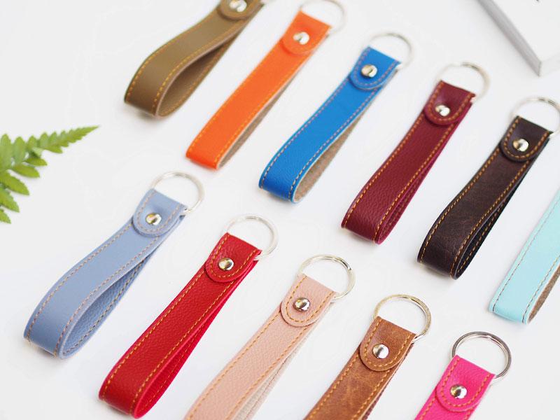 Móc khóa dây simili nhiều màu giá rẻ