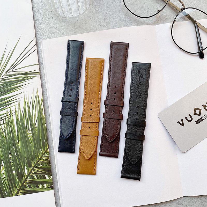 Dây da đồng hồ với đầy đủ size và màu sắc