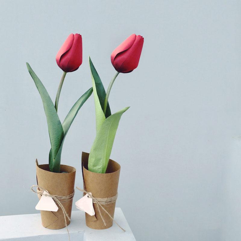Hoa tulip giấy handmade cực dễ thương