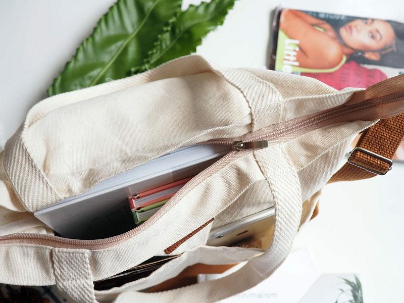 Túi tote vải bố basic đựng đồ