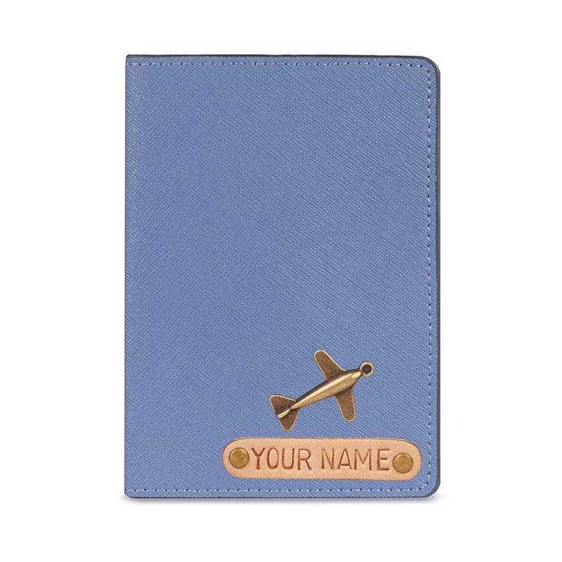 vỏ hộ chiếu khắc tên màu xanh dương