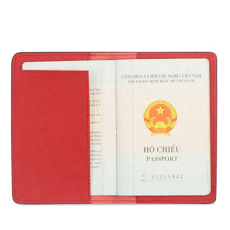 vỏ bọc hộ chiếu màu đỏ