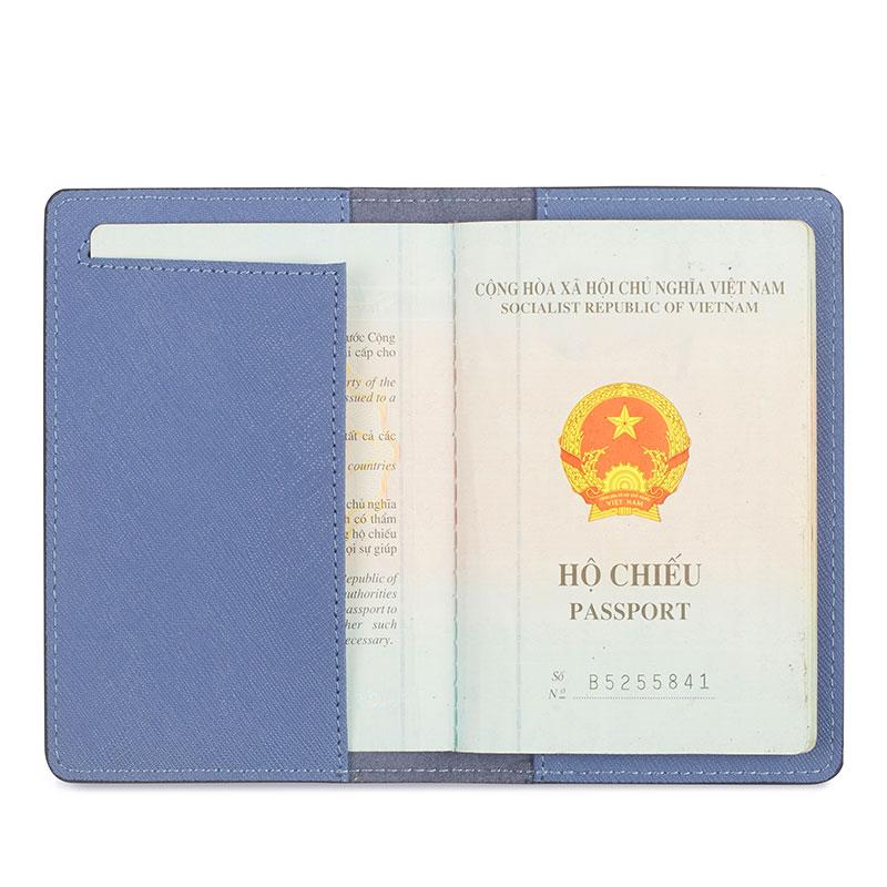 vỏ bọc hộ chiếu màu xanh biển