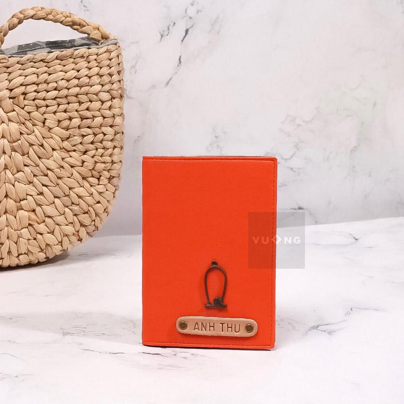 passport cover màu cam