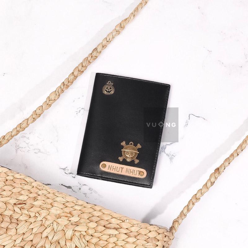 passport cover màu đen