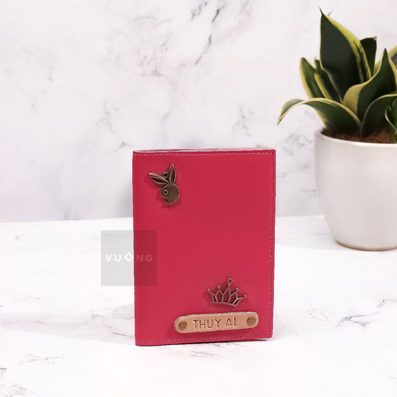 passport cover màu hồng sen
