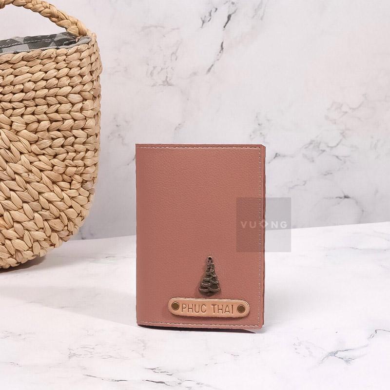 passport cover màu hồng pastel