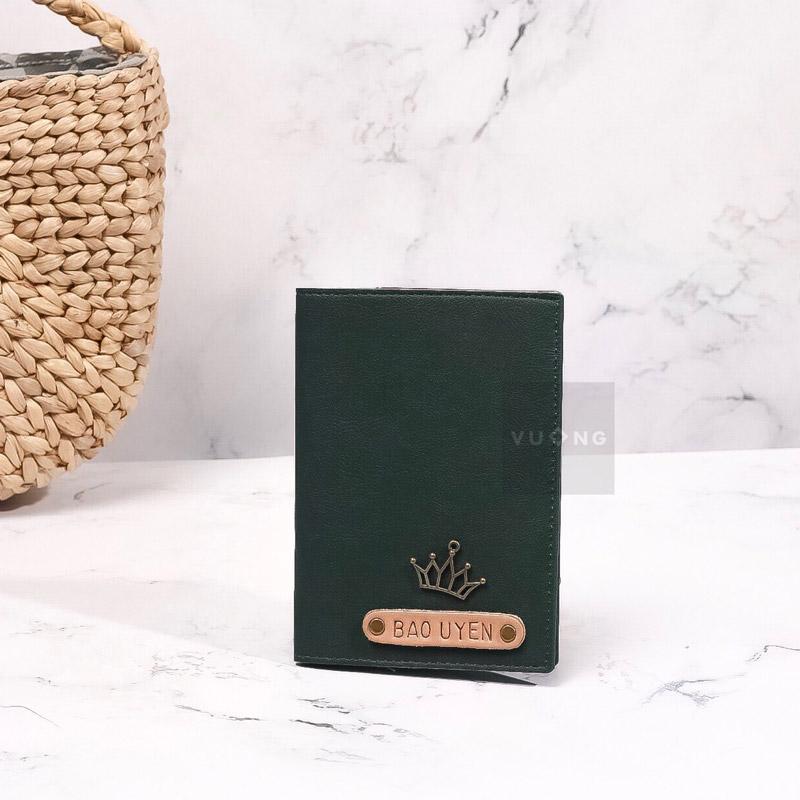passport cover màu xanh rêu